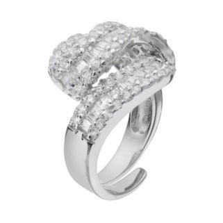 Sophie MillerSterling Silver Cubic Zirconia Twist Ring