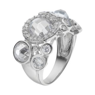 Sophie Miller Sterling Silver Cubic Zirconia Cluster Ring