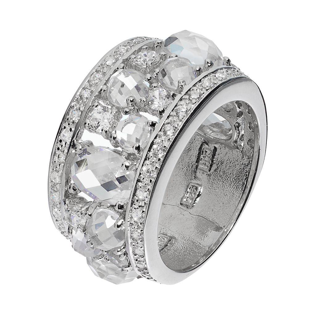 Sophie MillerSterling Silver Cubic Zirconia Cluster Ring