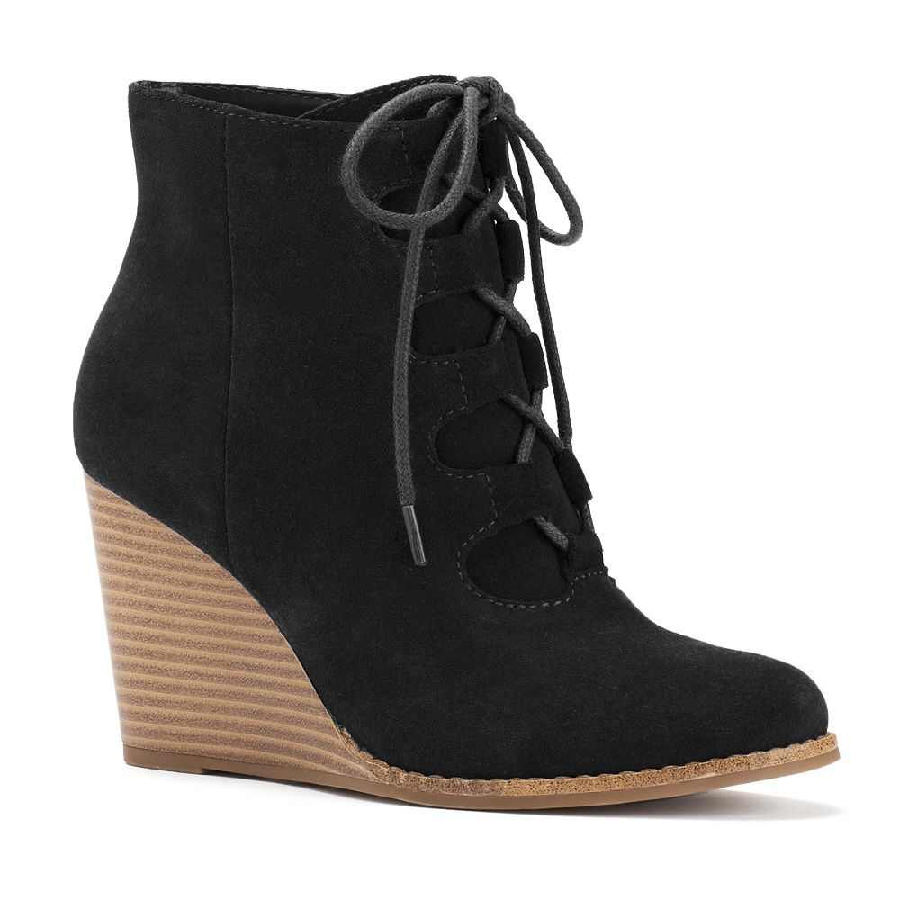 Goods for Life™ Women&39s Suede Wedge Ankle Boots