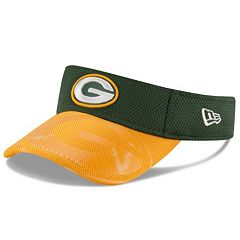 Adult New Era Green Bay Packers Sideline Adjustable Visor