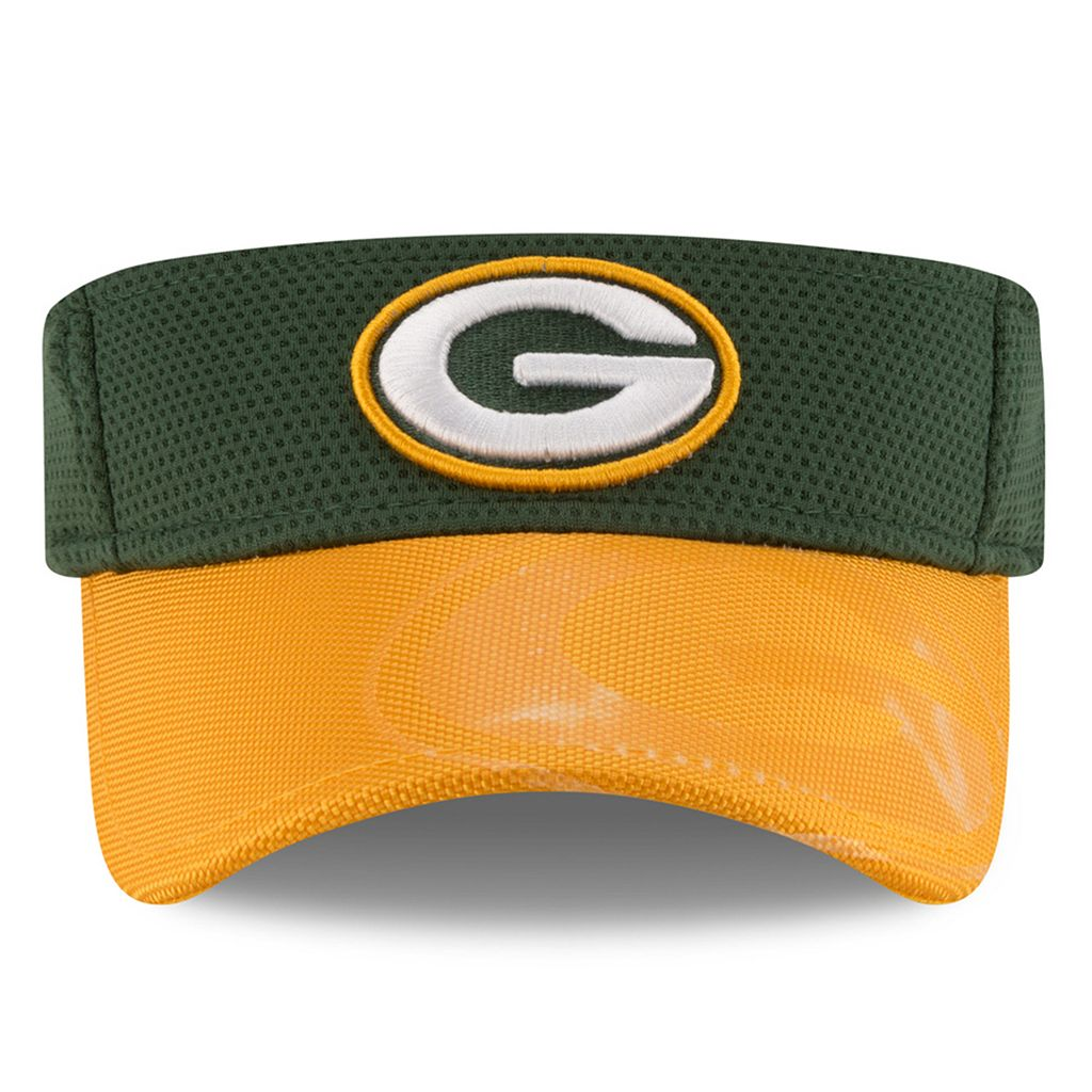 Adult New Era Green Bay Packers Sideline Adjustable Visor