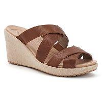 Crocs A-leigh Women's Crisscross Wedge Sandals