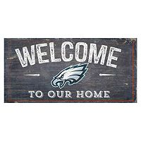 Philadelphia Eagles Distress Welcome Sign