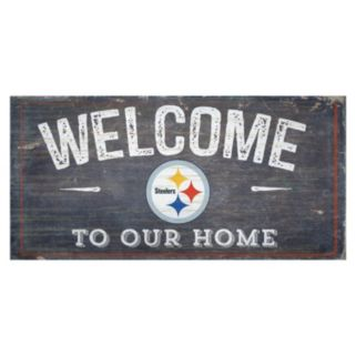 Pittsburgh Steelers Distress Welcome Sign