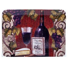 Certified International Wine Tasting 16' x 12' Rectangular Square Platter