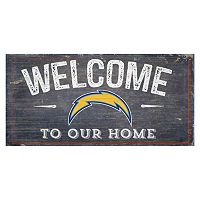 San Diego Chargers Distress Welcome Sign