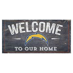 San DiegoChargers Distress Welcome Sign
