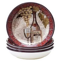 Certified International Wine Tasting 4-pc. Soup / Cereal Bowl Set