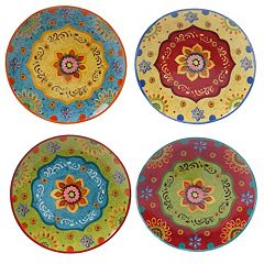 Certified International Tunisian Sunset 4 pc Dinner Plate Set