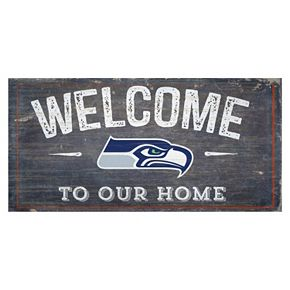 Seattle Seahawks Distress Welcome Sign