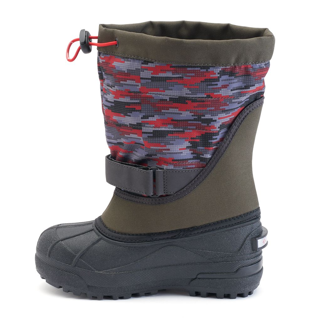 Columbia Powderbug Plus II Print Toddler Boys' Waterproof Winter Boots