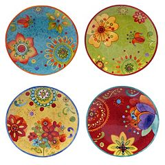 Certified International Tunisian Sunset 4 pc Salad Plate Set