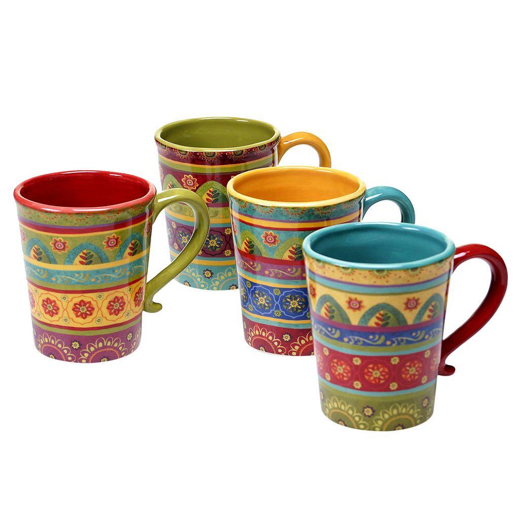 Certified International Tunisian Sunset 4-pc. Coffee Mug Set