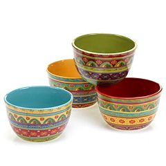 Certified International Tunisian Sunset 4 pc Ice Cream Bowl Set