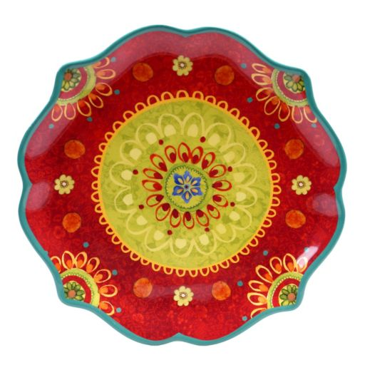 Certified International Tunisian Sunset 13.25-in. Round Serving Platter