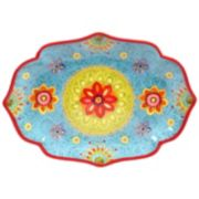 "Certified International Tunisian Sunset 16"" x 12"" Oval Serving Platter"