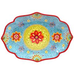 Certified International Tunisian Sunset 16' x 12' Oval Serving Platter
