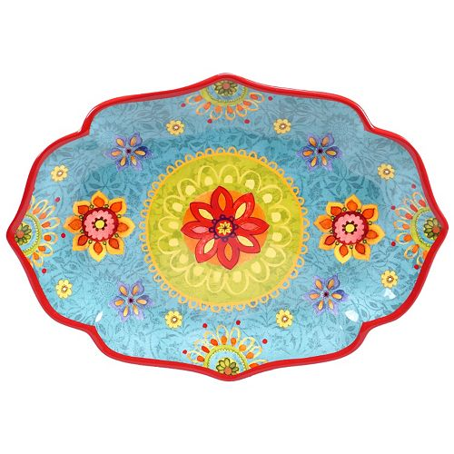"""Certified International Tunisian Sunset 16"""" x 12"""" Oval Serving Platter"""