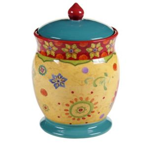 Certified International Tunisian Sunset 9.75-in. Biscuit Jar