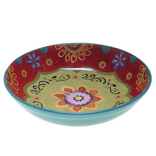 Certified International Tunisian Sunset 13.25-in. Pasta Serving Bowl