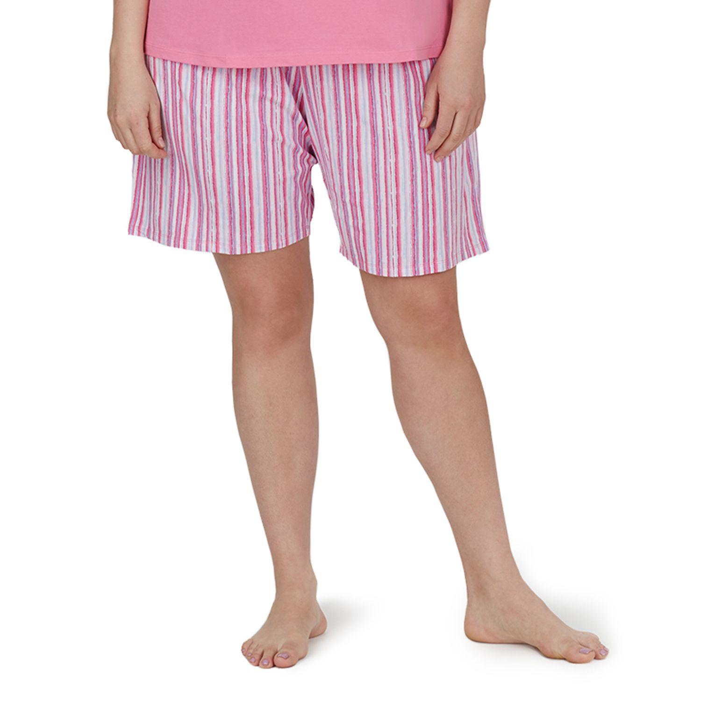 Plus Size Jockey Pajamas: Striped Bermuda Pajama Shorts