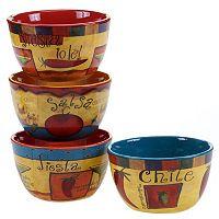 Certified International Salsa 4 pc Ice Cream Bowl Set