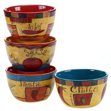 Certified International Salsa 4-pc. Ice Cream Bowl Set