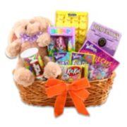 Alder Creek Delightful Easter Treats Bunny Plush Gift Basket