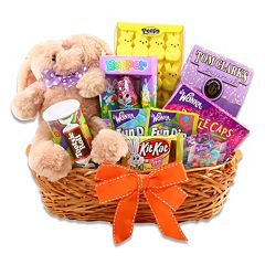 Alder Creek Delightful Easter Treats Bunny Plush Gift Basket