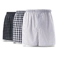 Big & Tall Hanes 3-pack Woven Boxers