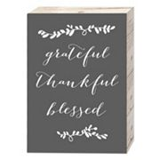 Belle Maison 'Grateful Thankful Blessed' Box Sign Art