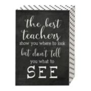 "Belle Maison ""The Best Teachers"" Box Sign Art"