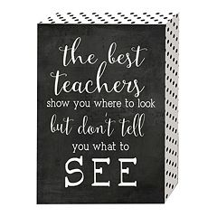 Belle Maison 'The Best Teachers' Box Sign Art