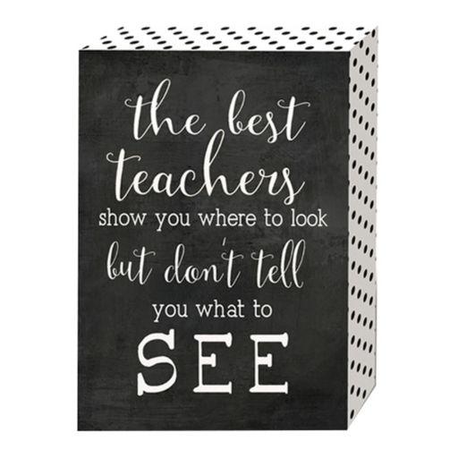 "Belle Maison ""The Best Teachers"" Box Sign Art"