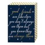 "Belle Maison ""Good Friends Are Like Stars"" Box Sign Art"