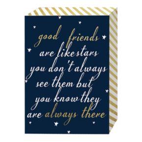 "Belle Maison ""Good Friends Are Like Stars"" Box Sign Art"