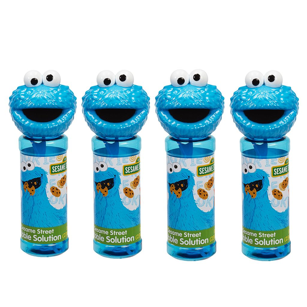 Sesame Street 4-pk. Cookie Monster Bubble Heads Bubble Pack by Little Kids