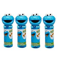 Sesame Street 4 pkCookie Monster Bubble Heads Bubble Pack by Little Kids