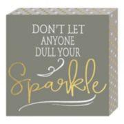 """Belle Maison """"Sparkle"""" Box Sign Art"""