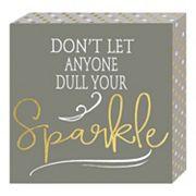 Belle Maison 'Sparkle' Box Sign Art
