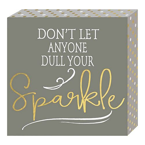 "Belle Maison ""Sparkle"" Box Sign Art"