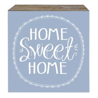 "Belle Maison ""Home Sweet Home"" Box Sign Art"