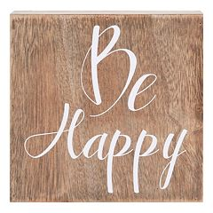 Belle Maison 'Be Happy' Box Sign Art