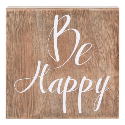Belle Maison Be Happy Box Sign Art