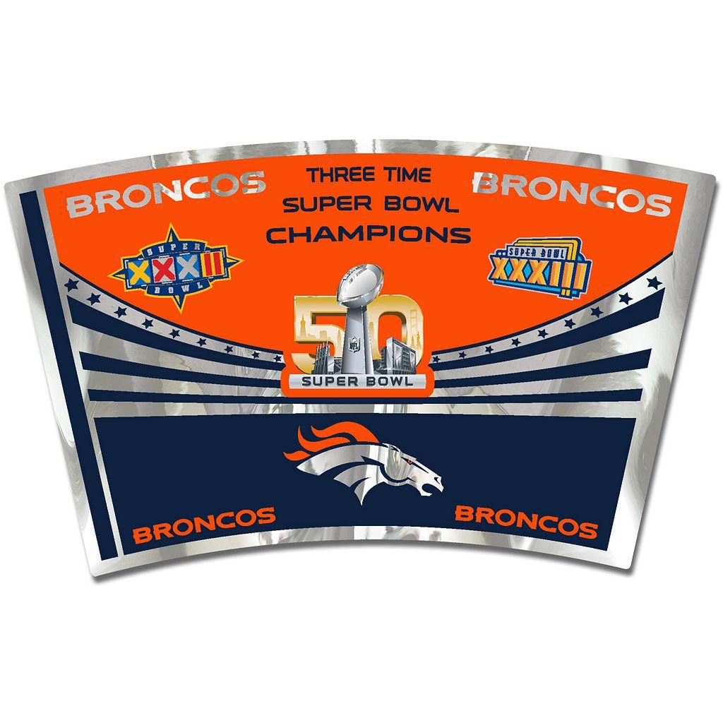 Denver Broncos Super Bowl 50 Travel Tumbler