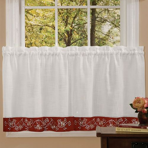Achim 2-pack Oakwood Tier Curtains