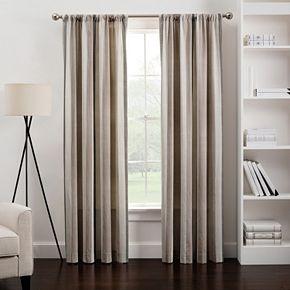 1-Panel Herringbone Stripe Window Curtain