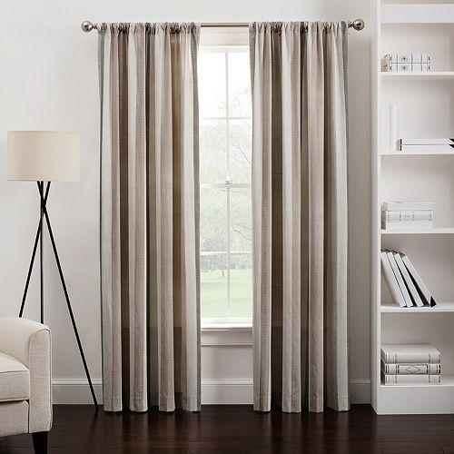 Herringbone Stripe Window Curtain