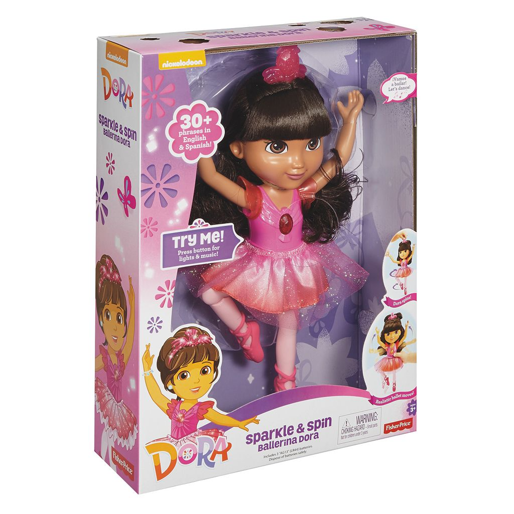 Fisher-Price Dora and Friends Sparkle & Spin Ballerina Dora Doll
